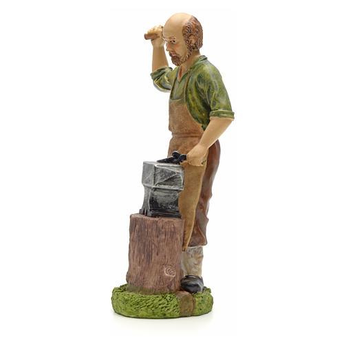 Nativity figurine, resin smith with anvil 20cm 2