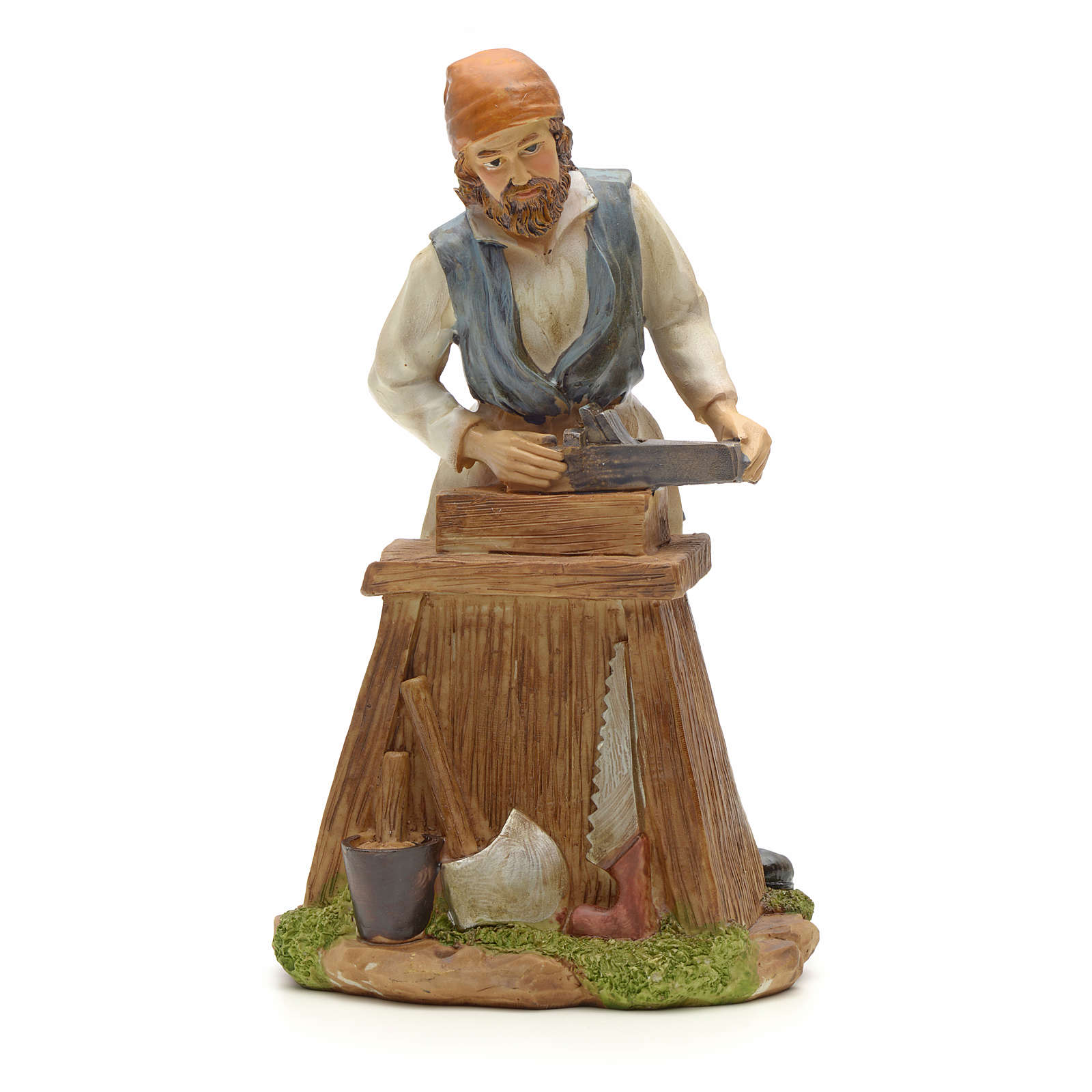Carpenter figurine in resin for nativities of 20cm 3