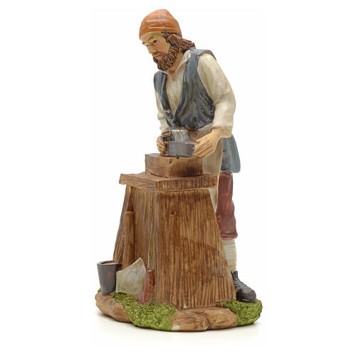 Carpenter figurine in resin for nativities of 20cm 2