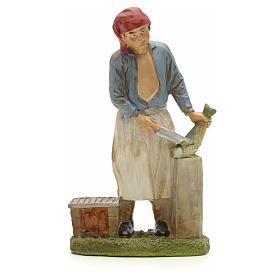 Nativity Scene figurines: Nativity figurine, fishmonger 20cm resin