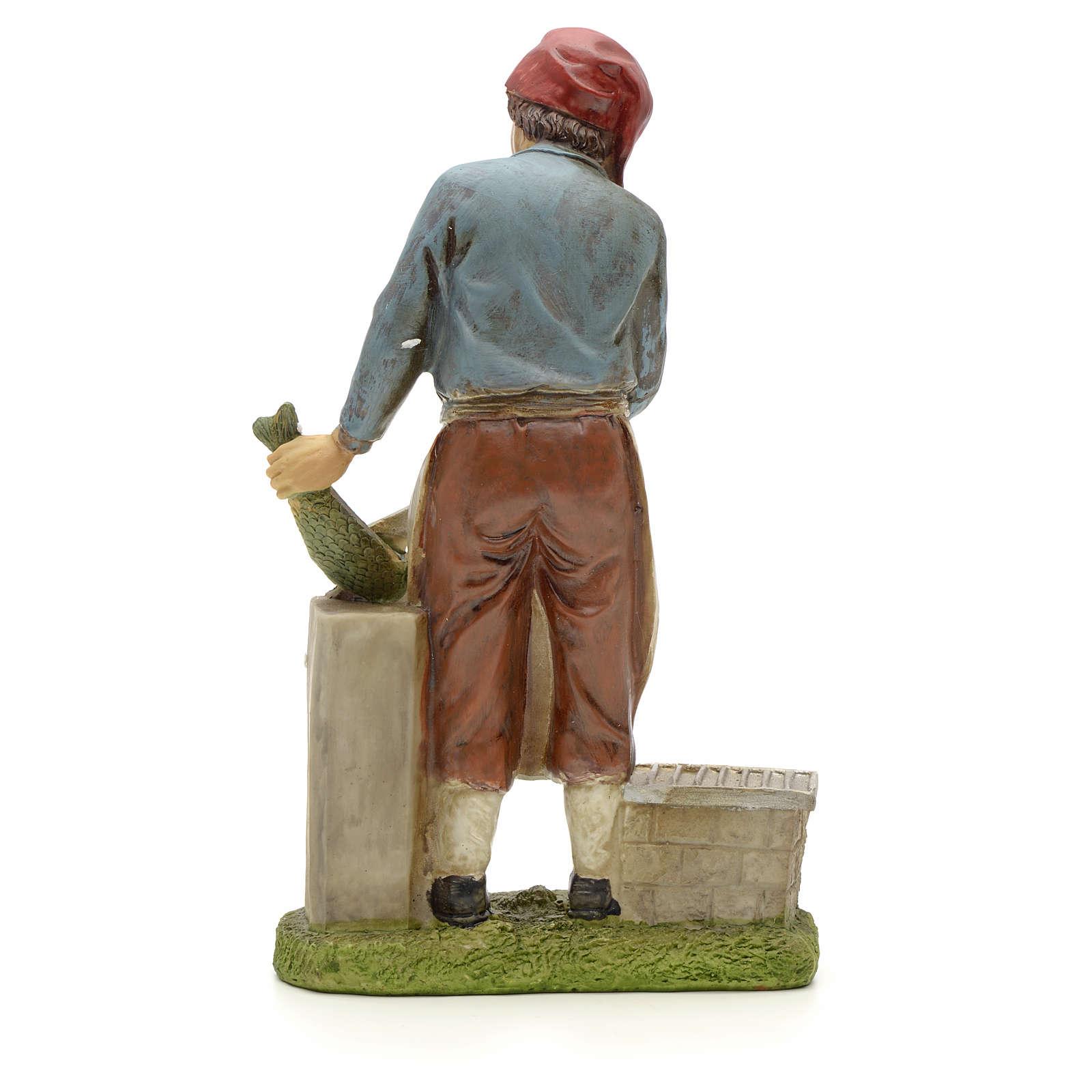 Nativity figurine, fishmonger 20cm resin 3