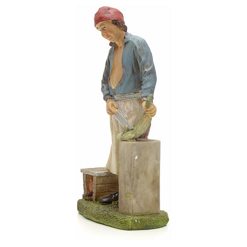 Nativity figurine, fishmonger 20cm resin 2