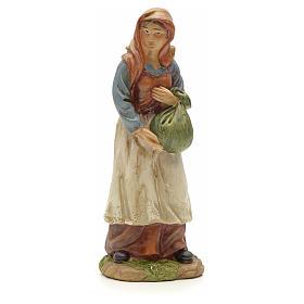 Nativity figurine, resin woman with bundle 20cm s1