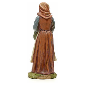 Nativity figurine, resin woman with bundle 20cm s3