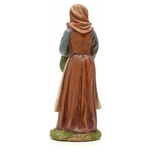 Nativity figurine, resin woman with bundle 20cm 3