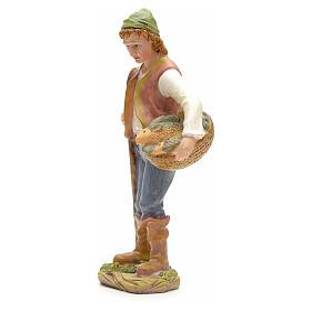 Nativity figurine, fisherman with basket of fish 21cm s2