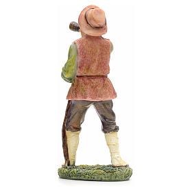 Nativity figurine, shepherd with horn 21cm s3