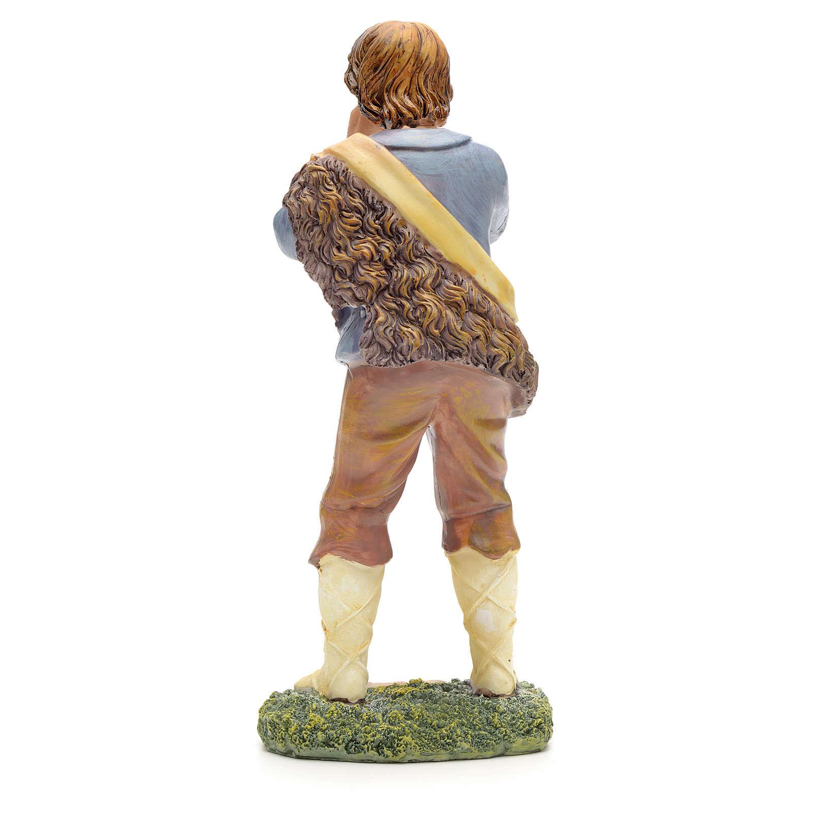 Nativity figurine, shepherd talking 21cm 3