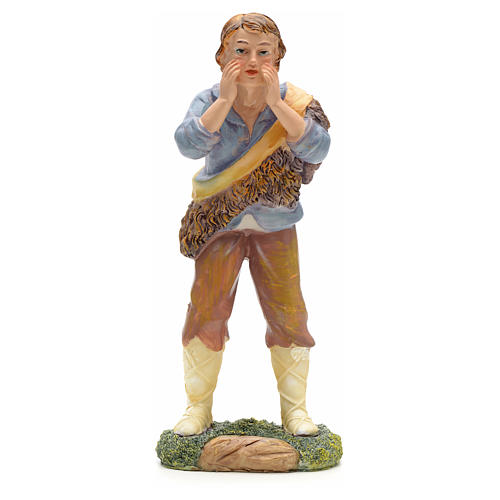 Nativity figurine, shepherd talking 21cm 1