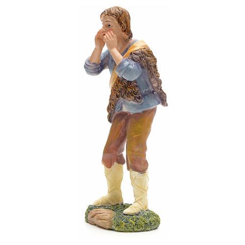 Nativity figurine, shepherd talking 21cm 2