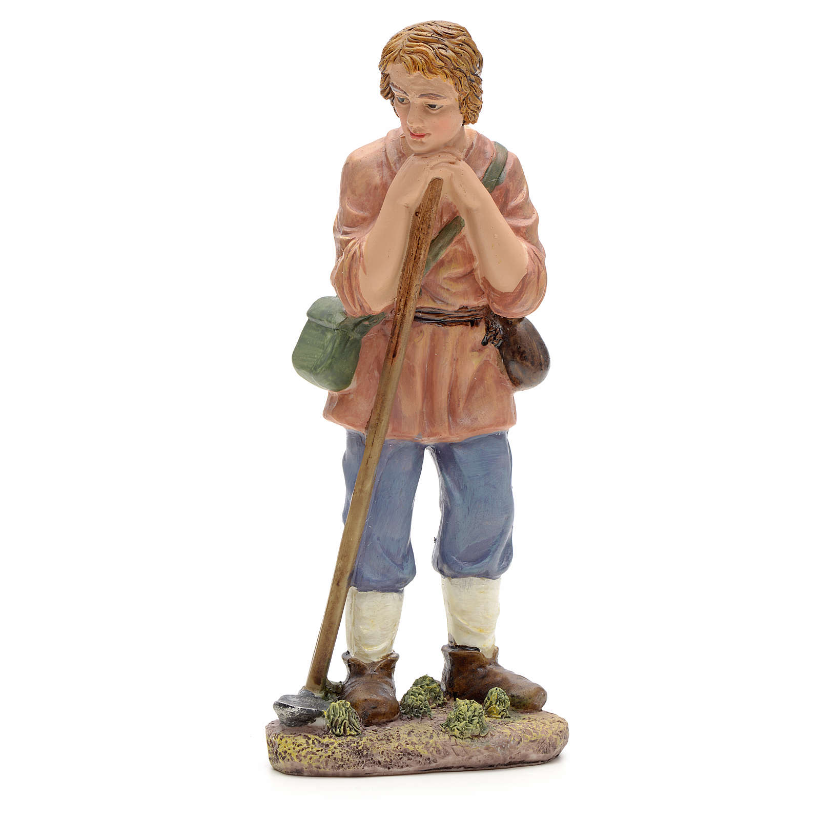 Nativity figurine, farmer with hoe 21cm 3