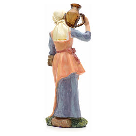 Nativity figurine, girl with amphora and wood 21cm s3