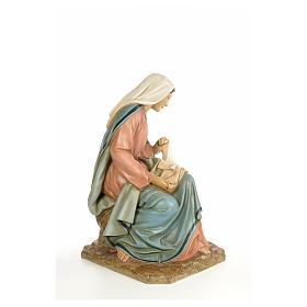 Vierge Marie 160cm pâte à bois finition élégante s8