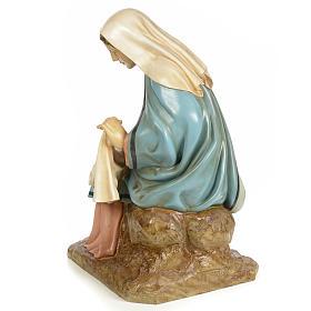 Vierge Marie 160cm pâte à bois finition élégante s3