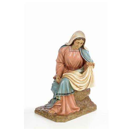 Vierge Marie 160cm pâte à bois finition élégante 6