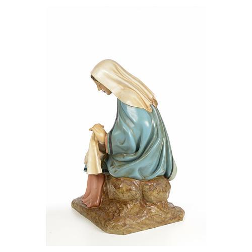 Vierge Marie 160cm pâte à bois finition élégante 7