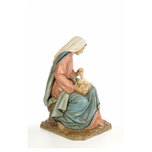Vierge Marie 160cm pâte à bois finition élégante 8