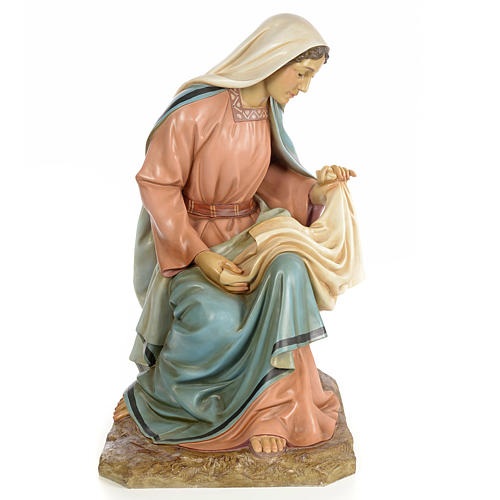 Vierge Marie 160cm pâte à bois finition élégante 1