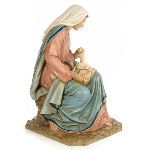 Vierge Marie 160cm pâte à bois finition élégante 4