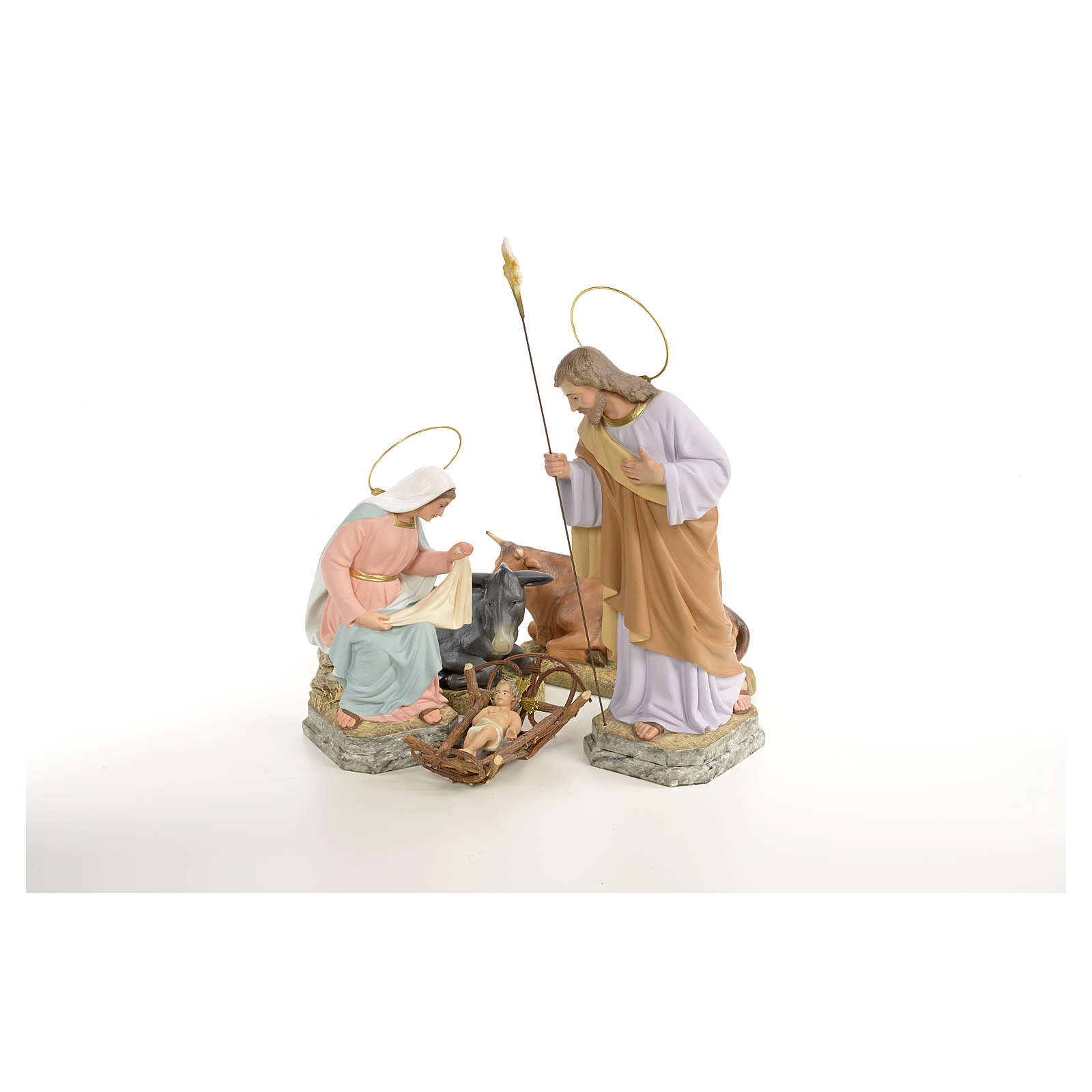 Natividad 30 cm pasta de madera dec. fina 3