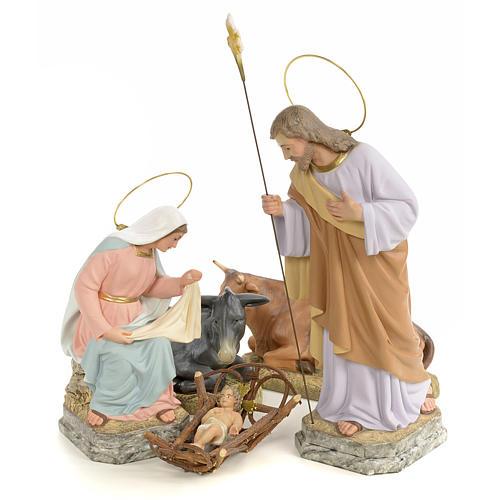 Natividad 30 cm pasta de madera dec. fina 1