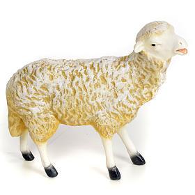 Animali presepe: Agnello 30 cm pasta di legno dec. fine
