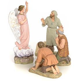 Statue per presepi: Annunciazione 30 cm pasta di legno dec. fine