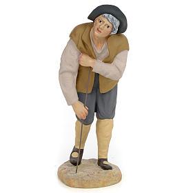 Mendicante 30 cm pasta di legno dec. fine s1