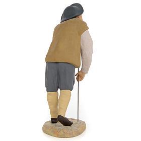 Mendicante 30 cm pasta di legno dec. fine s3