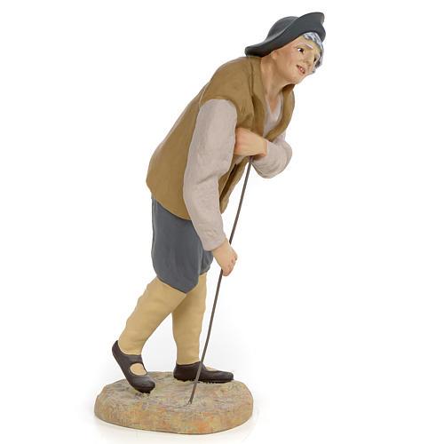 Mendicante 30 cm pasta di legno dec. fine 2