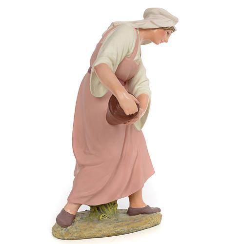 Nativity figurine wood pulp shepherdess with amphora, 30cm (fine 2