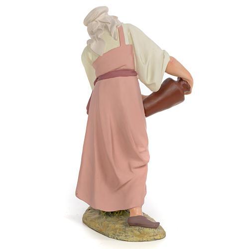 Nativity figurine wood pulp shepherdess with amphora, 30cm (fine 3