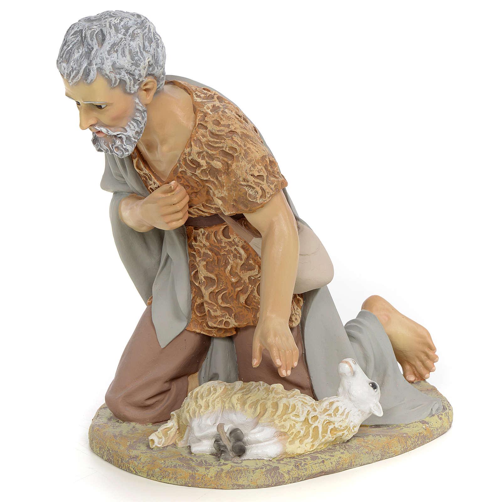 Nativity figurine, shepherd offering lamb, 40cm (fine decoration 3