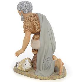 Nativity figurine, shepherd offering lamb, 40cm (fine decoration s3