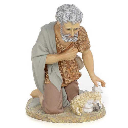 Nativity figurine, shepherd offering lamb, 40cm (fine decoration 1