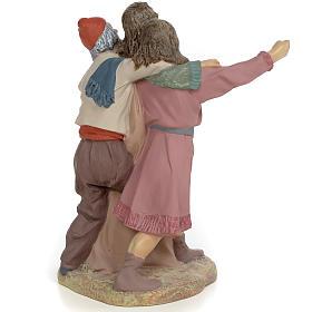 Nativity figurine, group of 3 shepherds, 30cm (fine decoration) s3