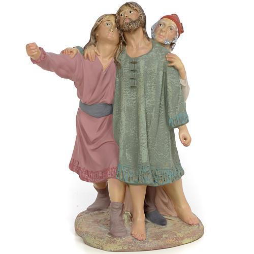Nativity figurine, group of 3 shepherds, 30cm (fine decoration) 1