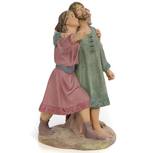 Nativity figurine, group of 3 shepherds, 30cm (fine decoration) 2