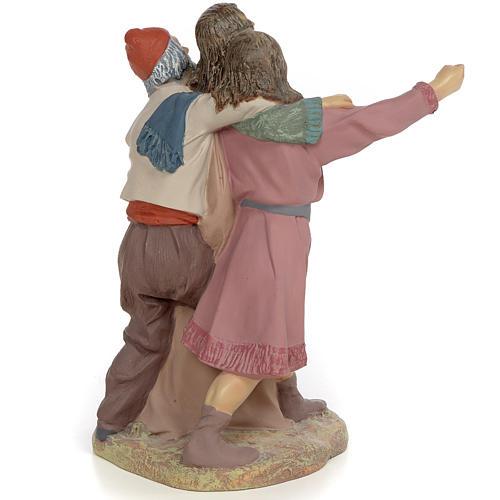 Nativity figurine, group of 3 shepherds, 30cm (fine decoration) 4