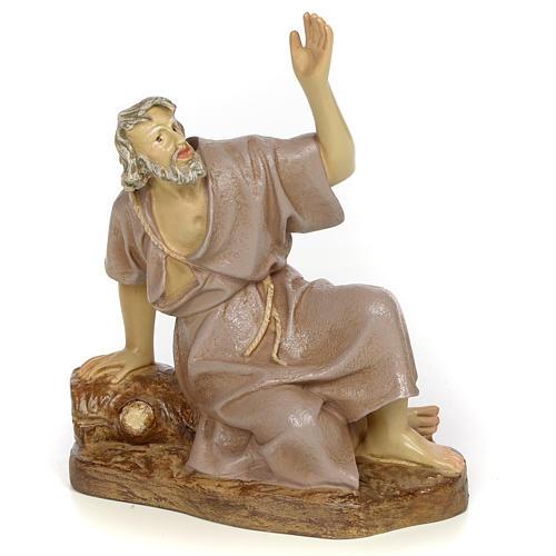 Nativity figurine, astonished man, 20cm (antique decoration) 1