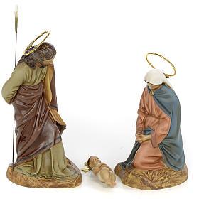 Sainte Famille 3 figurines pâte à bois 20 cm finition élégante s1