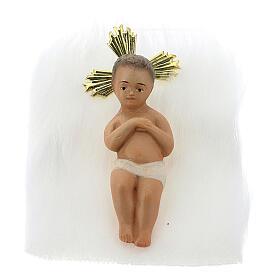 Natività 20 cm in pasta di legno dec. elegante s2