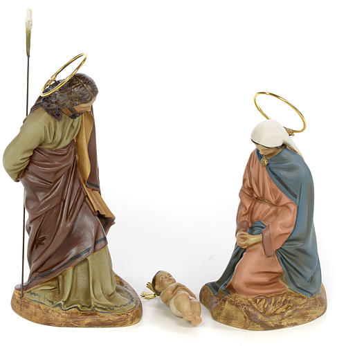 Nativity scene in wood pulp 20cm elegant decoration 1