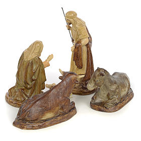 Natividad 5pz. decoración bruñida 15 cm s3
