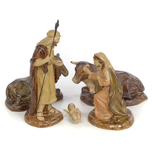 Natividad 5pz. decoración bruñida 15 cm 1