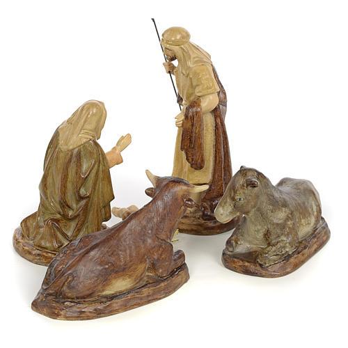 Natividad 5pz. decoración bruñida 15 cm 3