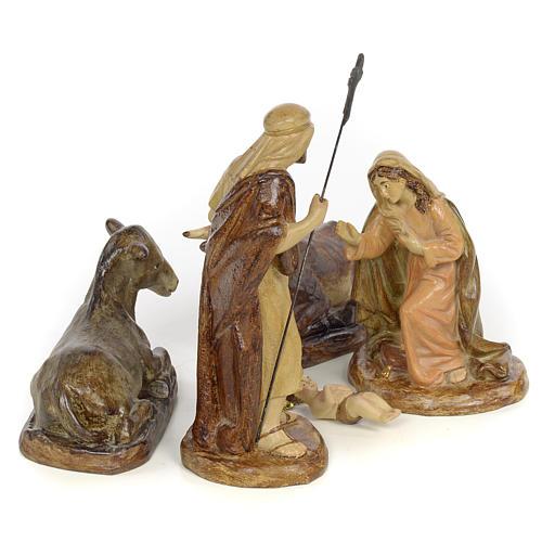 Natividad 5pz. decoración bruñida 15 cm 4