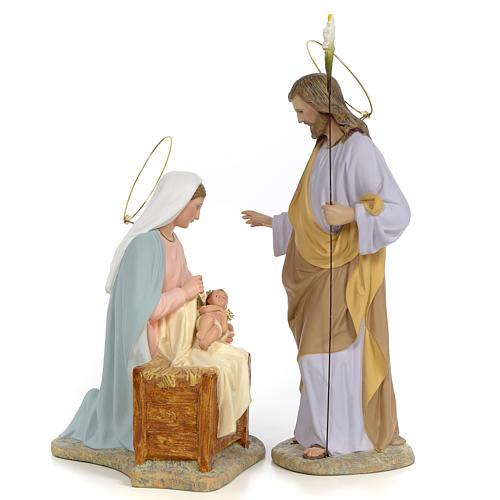 Sainte Famille nativité finition raffiné 40 cm 2 pcs 1