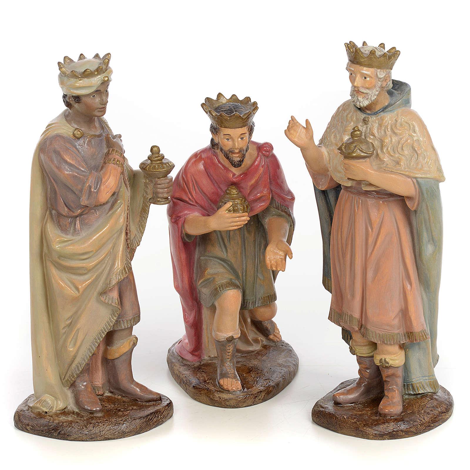 Tre Re Magi 25 cm pasta di legno dec. anticata 3