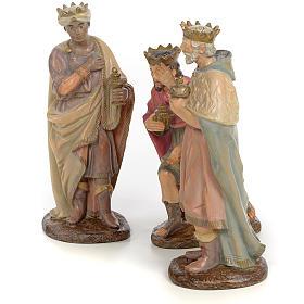 Tre Re Magi 25 cm pasta di legno dec. anticata s2